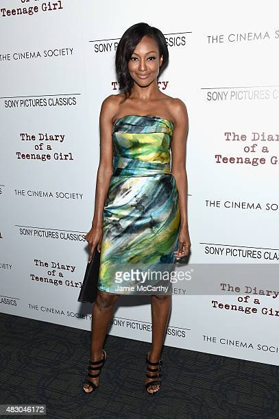 Actress Nichole Galicia attends the screening of Sony Pictures Classics The Diary Of A Teenage Girl hosted by The Cinema Society at Landmark Sunshine...
