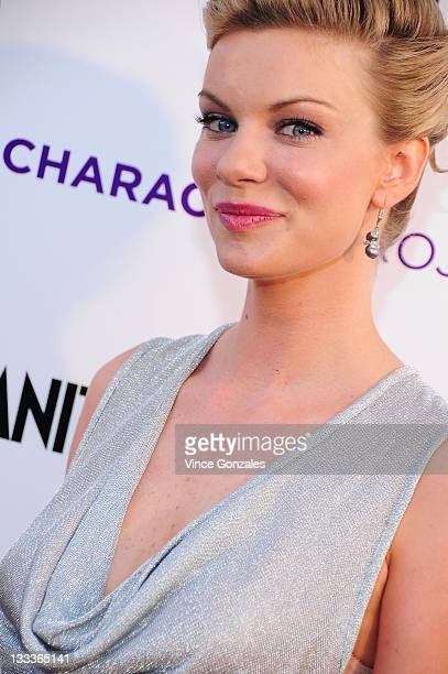 Actress Nichole Hiltz arrives for the 'American Character A Photographic Journey' exhibition opening celebration at Ace Gallery on May 14 2009 in Los...