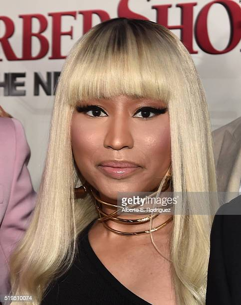 Actress Nicki Minaj attends the premiere of New Line Cinema's 'Barbershop The Next Cut' at the TCL Chinese Theatre IMAX on April 6 2016 in Hollywood...