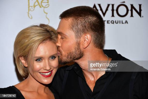 Actress Nicky Whelan and actor Chad Michael Murray arrive at the FAE book launch party at Sadie Kitchen Lounge on October 15 2013 in Los Angeles...