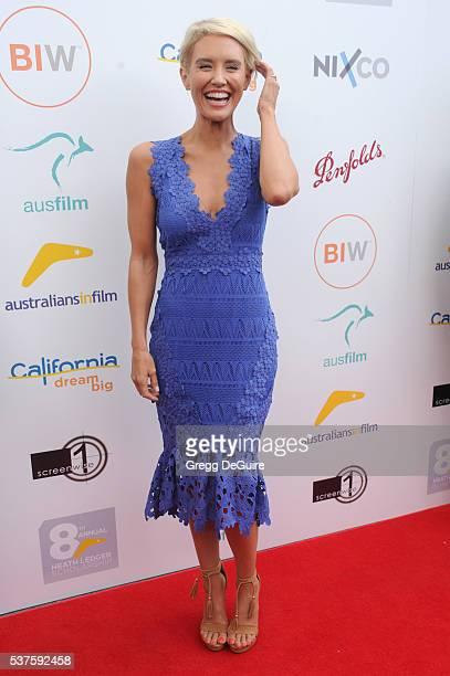 Actress Nicky Whelan arrives at Australians In Film Heath Ledger Scholarship Dinner on June 1 2016 in Beverly Hills California