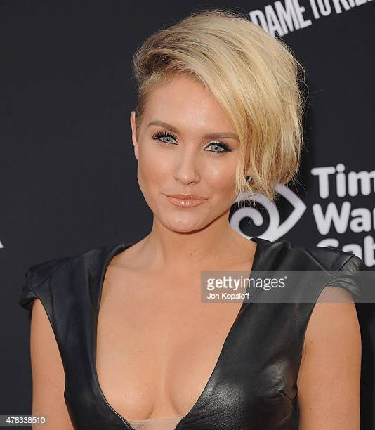 """Actress Nicky Whelan arrives at the Los Angeles Premiere """"Sin City: A Dame To Kill For"""" at TCL Chinese Theatre on August 19, 2014 in Hollywood,..."""