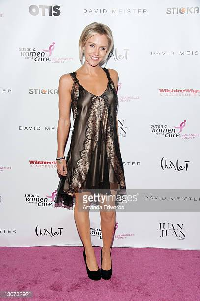 Actress Nicky Whelan arrives at the Susan G Komen Los Angeles' 1st Annual Designs For The Cure at BelAir Bay Club on October 28 2011 in Pacific...