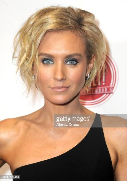 Actress Nicky Whelan arrives for the TJ Scott Book Launch For 'In The Tub Volume 2' held at Cinematic Pictures Group Gallery on December 2 2017 in...
