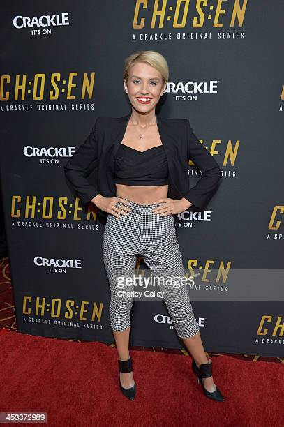 Actress Nicky Whelan attends Crackle's Chosen season 2 premiere screening at The Grove on December 3 2013 in Los Angeles California