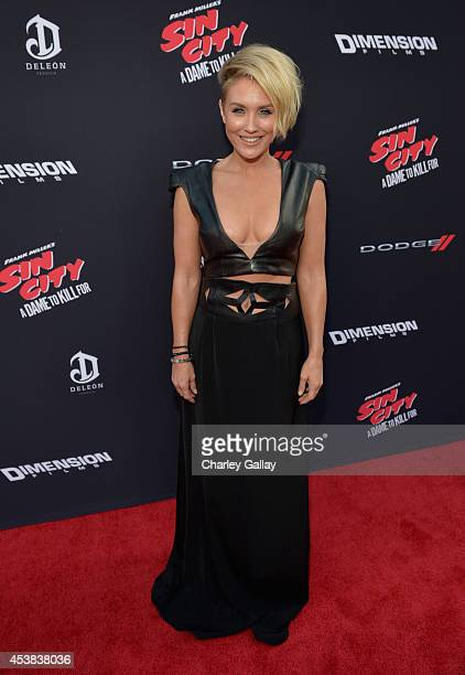 Actress Nicky Whelan attends SIN CITY A DAME TO KILL FOR premiere presented by Dimension Films in partnership with Time Warner Cable Dodge and DeLeon...