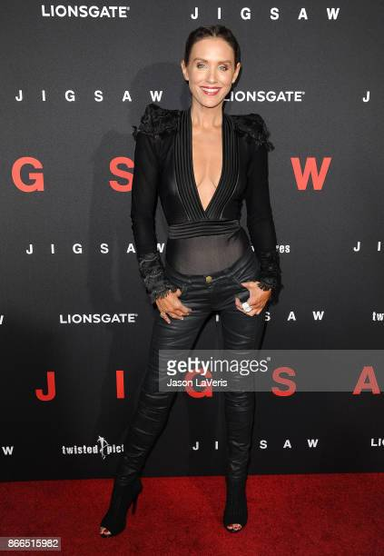 Actress Nicky Whelan attends the premiere of 'Jigsaw' at ArcLight Hollywood on October 25 2017 in Hollywood California