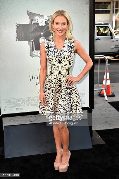 Actress Nicky Whelan attends the premiere of New Line Cinema's Lights Out at the TCL Chinese Theatre on July 19 2016 in Hollywood California
