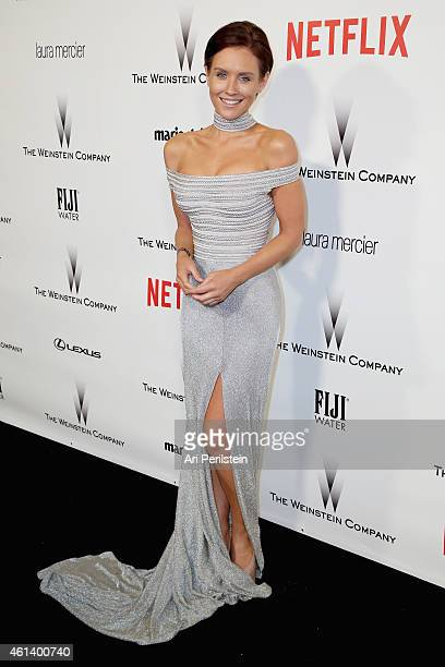 Actress Nicky Whelan attends The Weinstein Company Netflix's 2015 Golden Globes After Party presented by FIJI Water Lexus Laura Mercier and Marie...