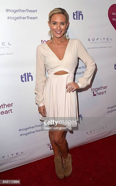 Actress Nicky Whelan attends together1heart launch party hosted by AnnaLynne McCord at Sofitel Hotel on June 25 2016 in Los Angeles California