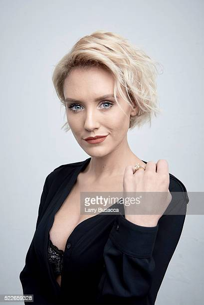 Actress Nicky Whelan from 'Rebirth' poses at the Tribeca Film Festival Getty Images Studio on April 19 2016 in New York City
