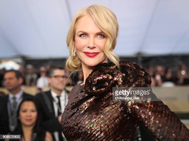 Actress Niclole Kidman attends the 24th Annual Screen Actors Guild Awards at The Shrine Auditorium on January 21 2018 in Los Angeles California...