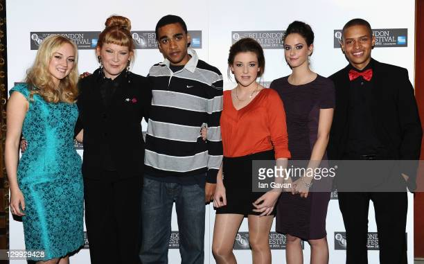 Actress Nicola Burley director Andrea Arnold and actors James Howden Shannon Beer Kaya Scodelario and Soloman Glave attend the 'Wuthering Heights'...