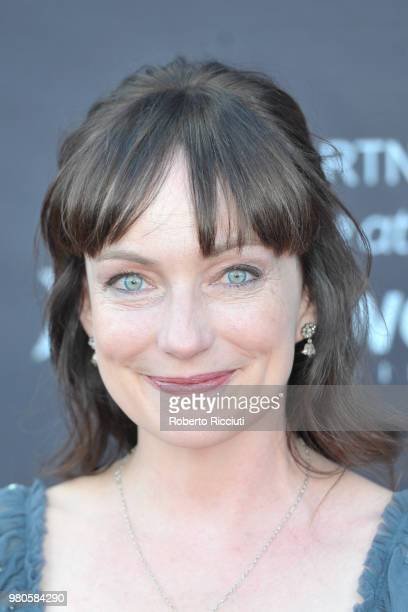 Actress Nicola Harrison attends a photocall for the UK Premiere of 'The Secret of Marrowbone' during the 72nd Edinburgh International Film Festival...