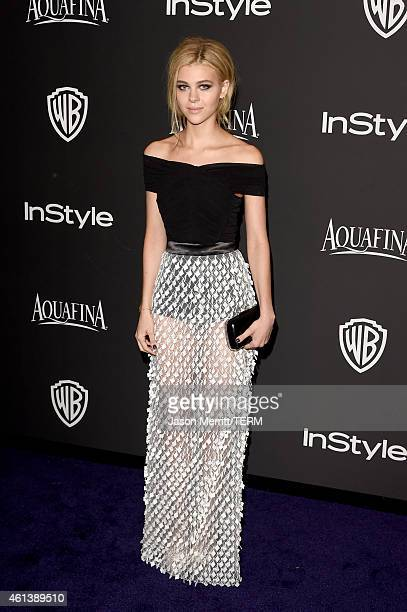 Actress Nicola Peltz attends the 2015 InStyle And Warner Bros 72nd Annual Golden Globe Awards PostParty at The Beverly Hilton Hotel on January 11...