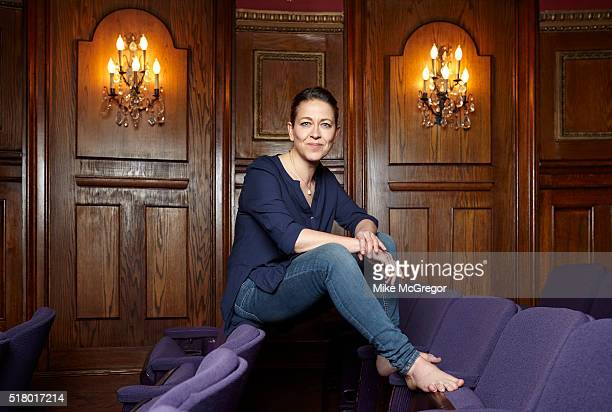 Actress Nicola Walker is photographed for The Observer's New Review on December 11 2015 at the Lycium Theater in New York City