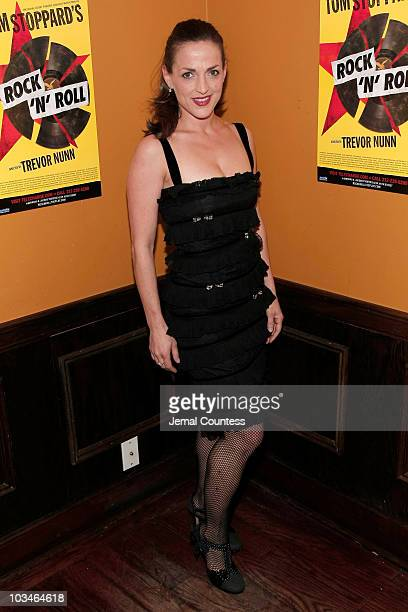 Actress Nicole Ansari at the Opening Night Afterparty for the Broadway Play Rock Roll at Angus McIndoe on November 4 2007 in New York City