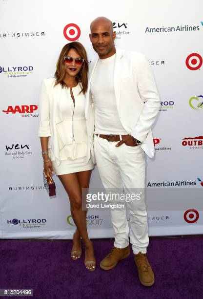 Actress Nicole Ari Parker and actor Boris Kodjoe attend the 19th Annual DesignCare 2017 at Private Residence on July 15 2017 in Pacific Palisades...