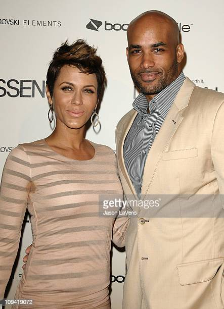 Actress Nicole Ari Parker and actor Boris Kodjoe attend the 4th Annual Essence Black Women In Hollywood luncheon at Beverly Hills Hotel on February...
