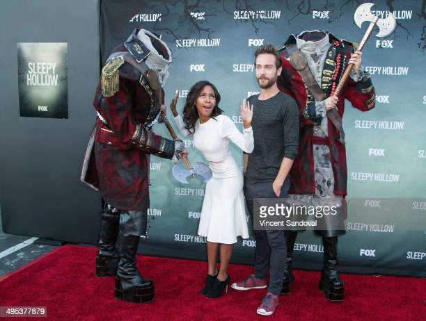 Actress Nicole Beharie and actor Tom Mison attend Los Angeles special screening and QA of FOX's 'Sleepy Hollow' at Hollywood Forever on June 2 2014...