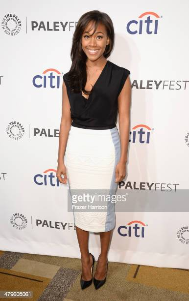Actress Nicole Beharie arrives at The Paley Center for Media's PaleyFest 2014 Honoring Sleepy Hollow at Dolby Theatre on March 19 2014 in Hollywood...