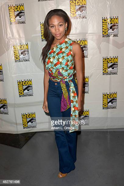Actress Nicole Beharie attends Entertainment Weekly Women Who Kick Ass panel and presentation and presentation during ComicCon International 2014 at...