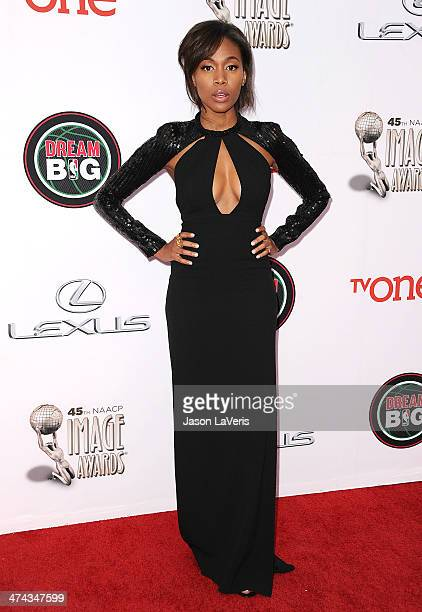 Actress Nicole Beharie attends the 45th NAACP Image Awards at Pasadena Civic Auditorium on February 22 2014 in Pasadena California