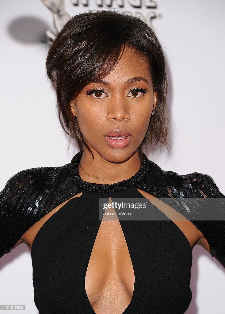 Actress Nicole Beharie attends the 45th NAACP Image Awards at Pasadena Civic Auditorium on February 22, 2014 in Pasadena, California.
