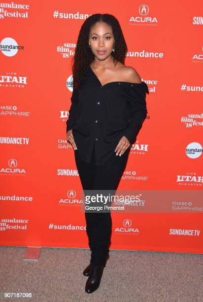 Actress Nicole Beharie attends the Of Monsters and Men Premiere during the 2018 Sundance Film Festival at Eccles Center Theatre on January 19 2018 in...