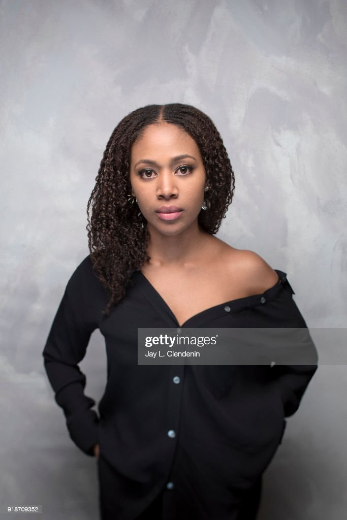 Actress Nicole Beharie, from the film 'Monsters and Men', is photographed for Los Angeles Times on January 19, 2018 in the L.A. Times Studio at Chase Sapphire on Main, during the Sundance Film Festival. PUBLISHED IMAGE.