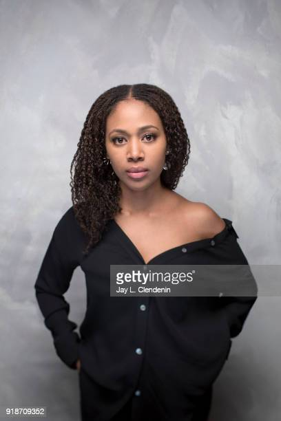 Actress Nicole Beharie from the film 'Monsters and Men' is photographed for Los Angeles Times on January 19 2018 in the LA Times Studio at Chase...