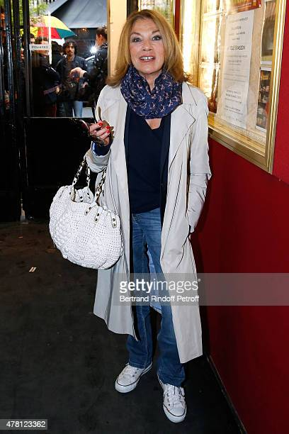 Actress Nicole Calfan attends the 2015 Public performance of L'Entree Des Artistes Held at Theatre de la Gaite Montparnasse on June 22 2015 in Paris...