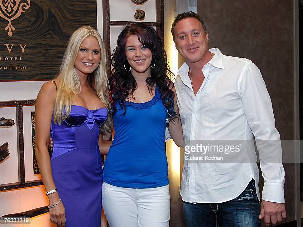 Actress Nicole Dahm Recording Artist Joss Stone and CEO of the Ivy Hotel Michael Kelly day two of the Ivy Hotel Premiere on August 25 2007 in San...