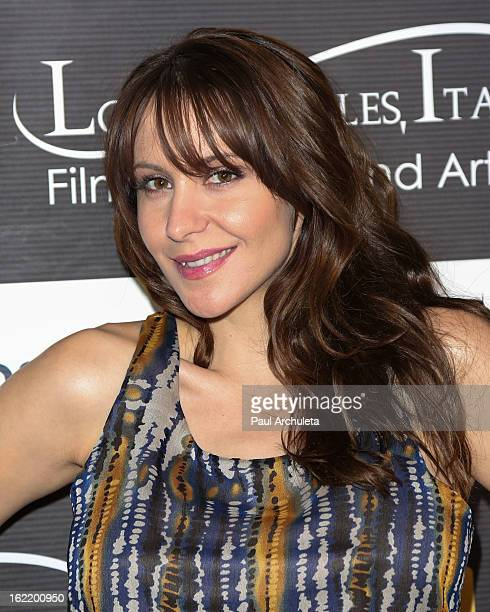 Actress Nicole D'Angelo attends the 8th Annual Los Angeles Italia Film Fashion and Art Fest at the Mann Chinese 6 on February 19 2013 in Los Angeles...