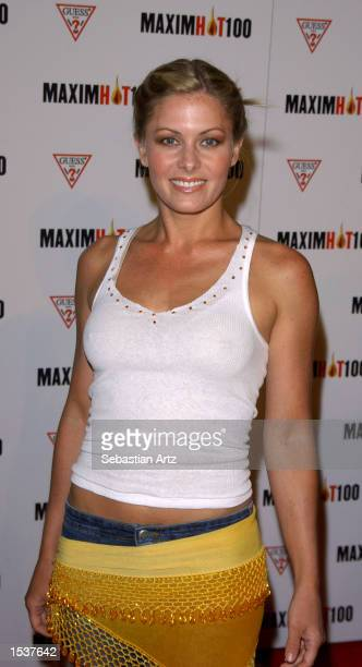 Actress Nicole Eggert arrives at Maxim's Hot100 party April 25 2002 in Los Angeles CA