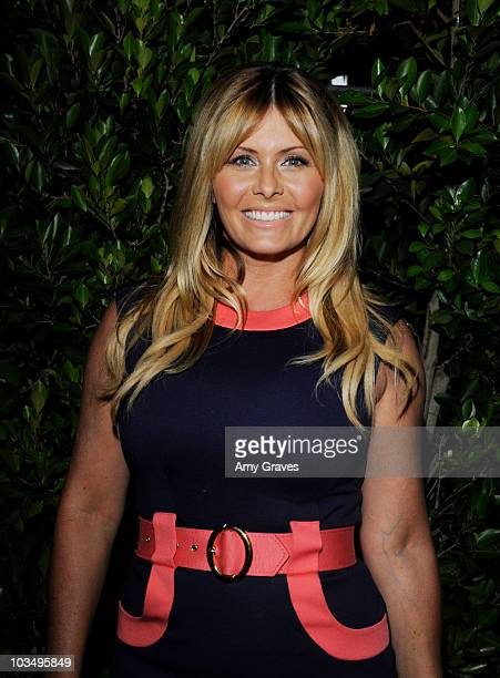 Actress Nicole Eggert attends the Baywatch Reunion Dinner at XIV Restaurant on August 19 2010 in Los Angeles California