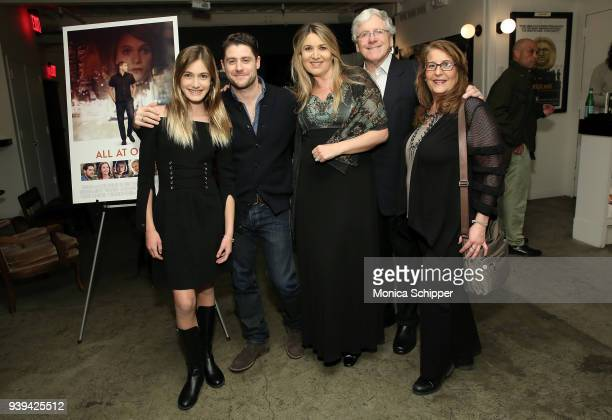 Actress Nicole Elizabeth Berger actor and director Jon Abrahams Chrysanthi Berger Harvey Berger and Elise Koseff attend the All At Once New York...