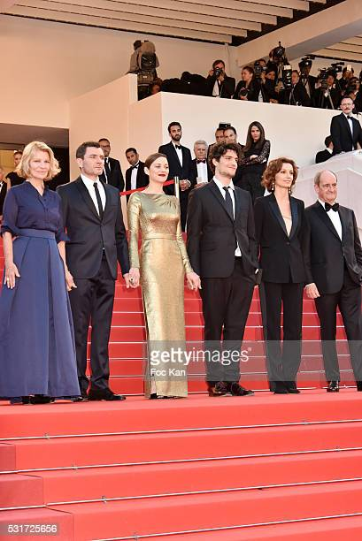 Actress Nicole Garcia, actor Alex Brendemuhl, actress Marion Cotillard, actor Louis Garrel, Audrey Azoulay and Pierre Lescure attend the 'From The...