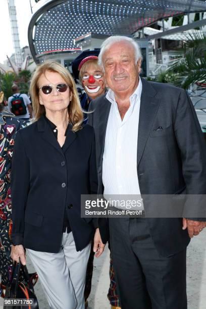 Actress Nicole Garcia and Marcel Campion attend the Fete Des Tuileries on June 22 2018 in Paris France