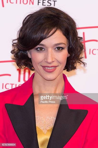 Actress Nicole Grimaudo arrives on the red carpet for Immaturi La Serie during the 2016 Rome Fiction Fest