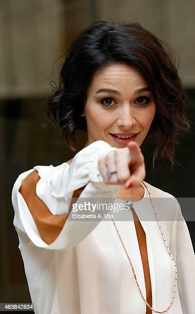 Actress Nicole Grimaudo attends 'Le Leggi Del Desiderio' photocall at Visconti Hotel on February 19 2015 in Rome Italy
