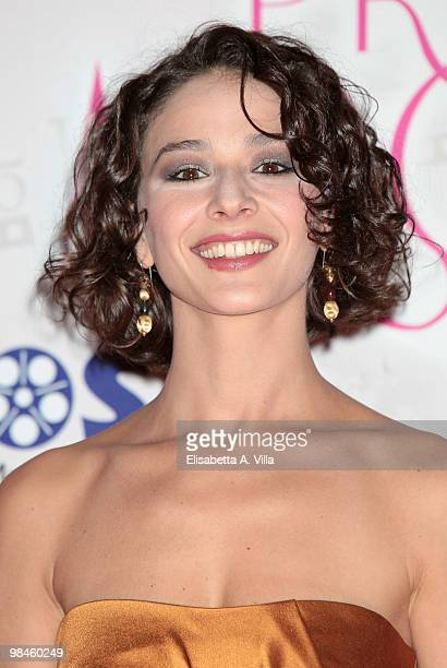 Actress Nicole Grimaudo attends the 2010 Premio Afrodite at the Studios on April 14 2010 in Rome Italy