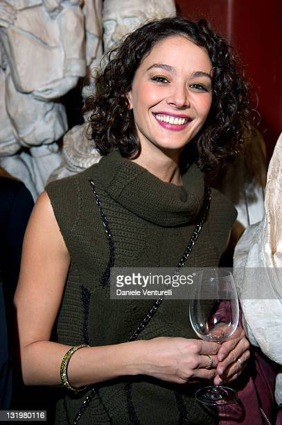 Actress Nicole Grimaudo attends the Anteprima fagship store opening In Rome on November 9 2011 in Rome Italy