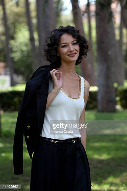 Actress Nicole Grimaudo attends the 'Workers' Photocall at Casa del Cinema on May 9 2012 in Rome Italy