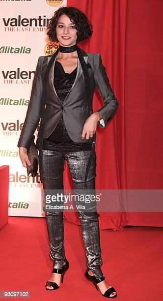 Actress Nicole Grimaudo attends Valentino The Last Emperor premiere at Embassy Cinema on November 16 2009 in Rome Italy