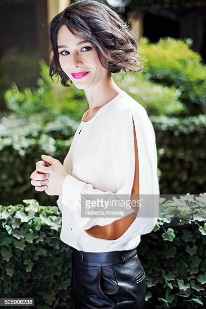 Actress Nicole Grimaudo is photographed for Self Assignment on February 03 2015 in Rome Italy