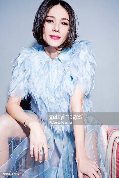 Actress Nicole Grimaudo is photographed for Self Assignment on February 03 2016 in Rome Italy