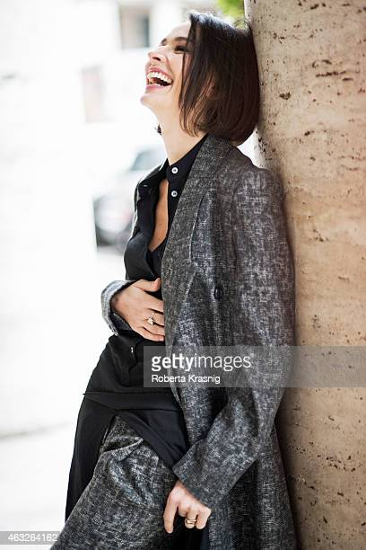 Actress Nicole Grimaudo is photographed for Self Assignment on February 3 2015 in Rome Italy