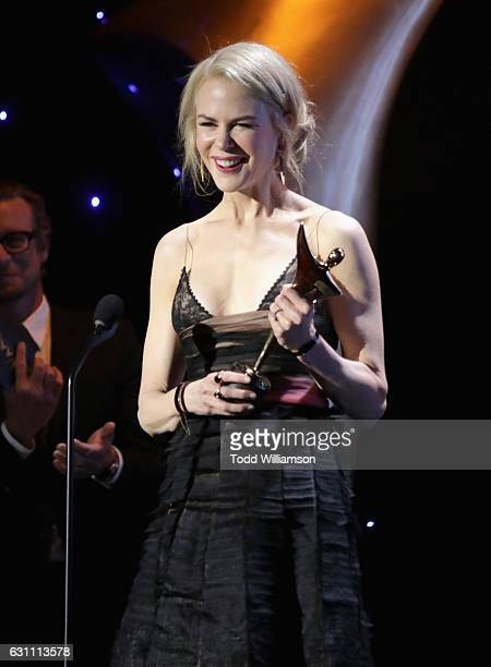 Actress Nicole Kidman accepts the award for Best Supporting Actress for Lion at The 6th AACTA International Awards on January 6 2017 in Los Angeles...