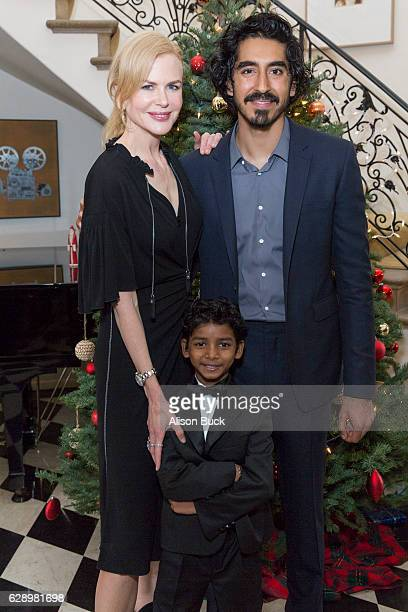 Actress Nicole Kidman actor Dev Patel and actor Sunny Pawar attend the British Consulate Chris O'Connor hosts the cast and filmmakers of 'LION' at...